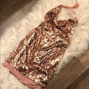 Sexy rose gold dress